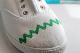 Draw a Chevron On Shoe