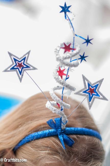 Blue headband