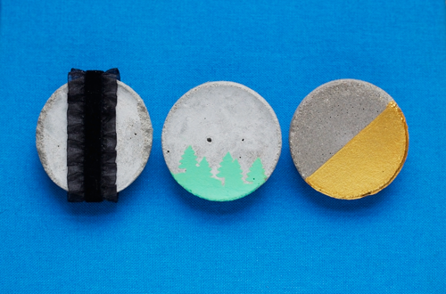 DIY Cement Brooches