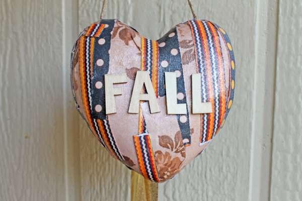 FALL door hanger Heart