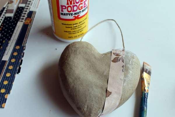 FALL door hanger Mod-podge