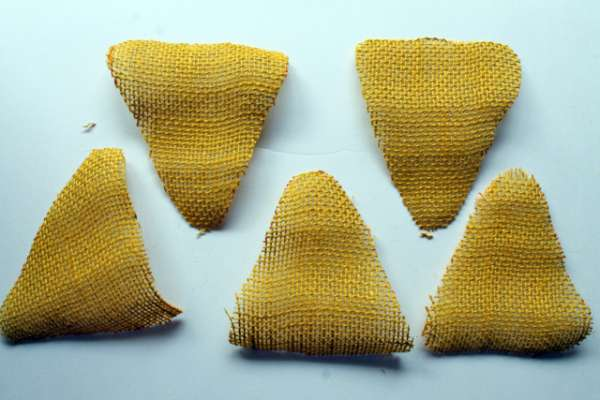 Corn Pieces From Burlap
