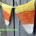 Make your own Burlap Candy Corn Banner