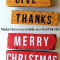 Word Art Bricks: Christmas And Thanksgiving