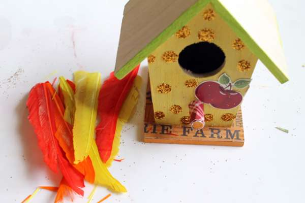 Use Other Paper Scraps And Fall Things To Continue Embellishing Your Birdhouses
