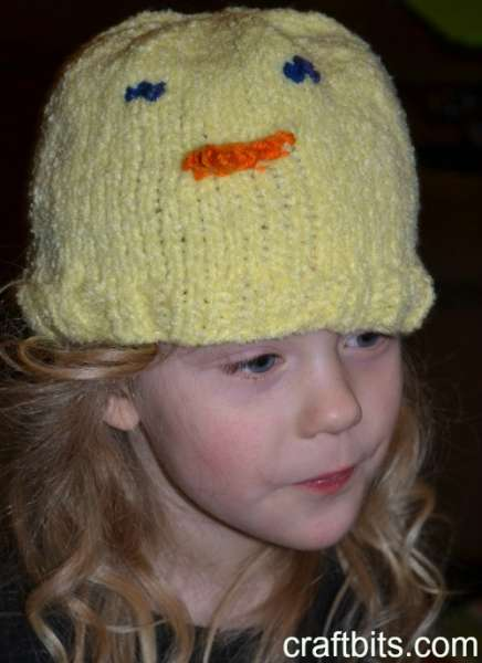 knit chick hat
