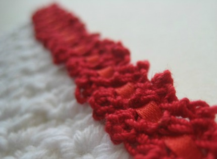 Crochet Potholder With Lace Trim by KeriLynn Engel