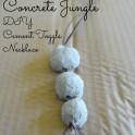 DIY Concrete Jungle Bead Necklace