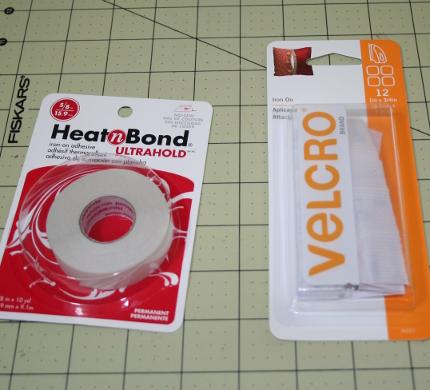 iron-on velcro and hem tape