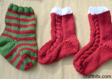 Knits utensil stockings for your table