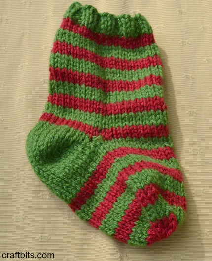 striped utensil stocking