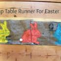 Easter Bunny Burlap Table Runner