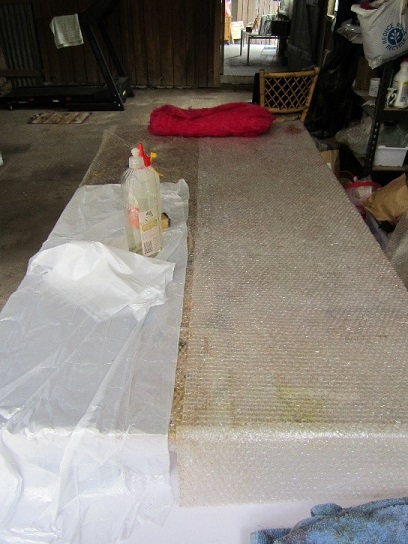 You need a big table for wet felting