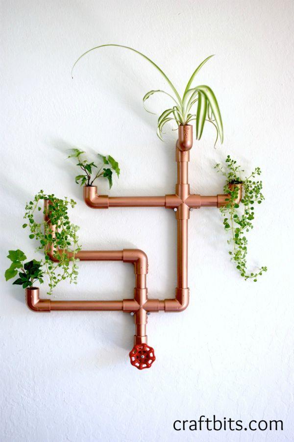 DIY Copper PVC Wall Planter — craftbits