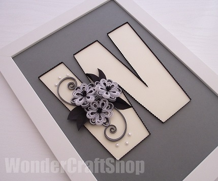 quilled letter tutorial