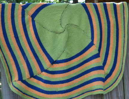 spiral square blanket