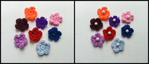 flower necklace step-1