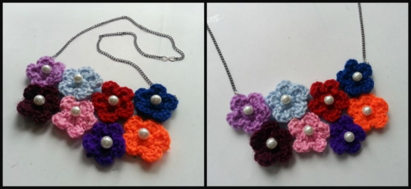 flower necklace step-5