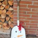 DIY Snowman Shovel Porch Decor