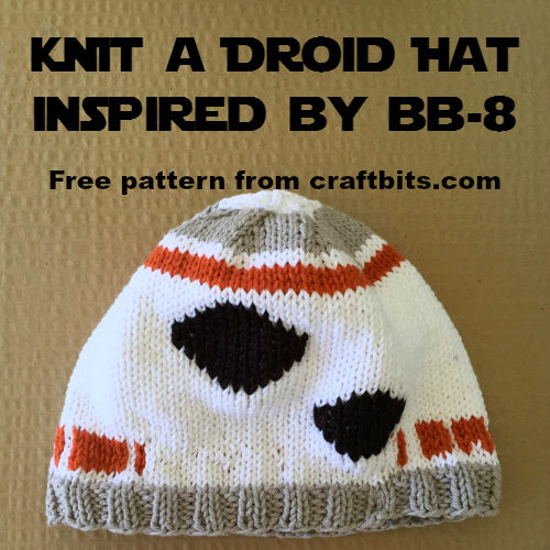 knti a hat inspired by the star wars droid bb-8