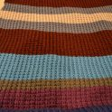 Big, Bulky Broken Rib Knit Blanket