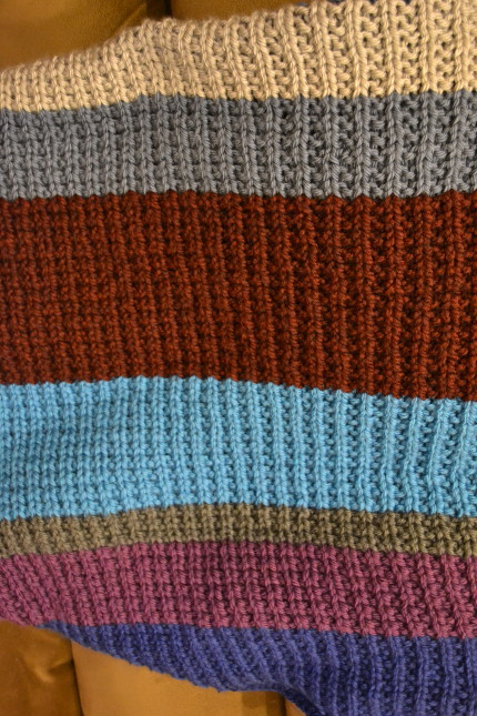 broken rib blanket stripe pattern