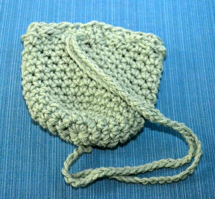 small crocheted treasure bag