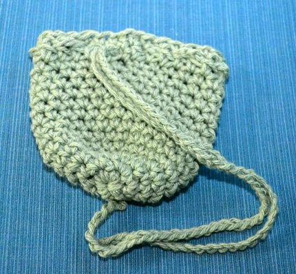 small crocheted treasure bag