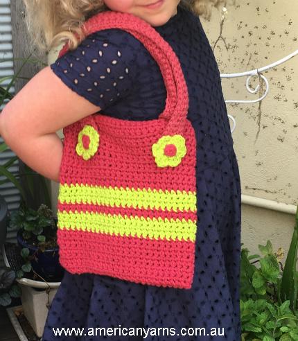 girls crochet handbag