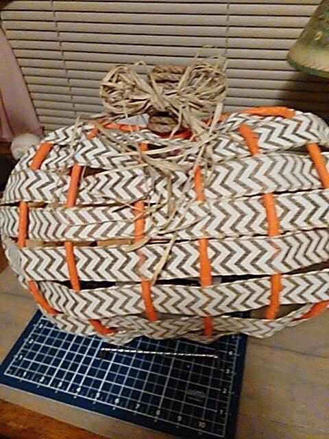 Dollar Tree Pumpkin Frame Ribbon Wreath