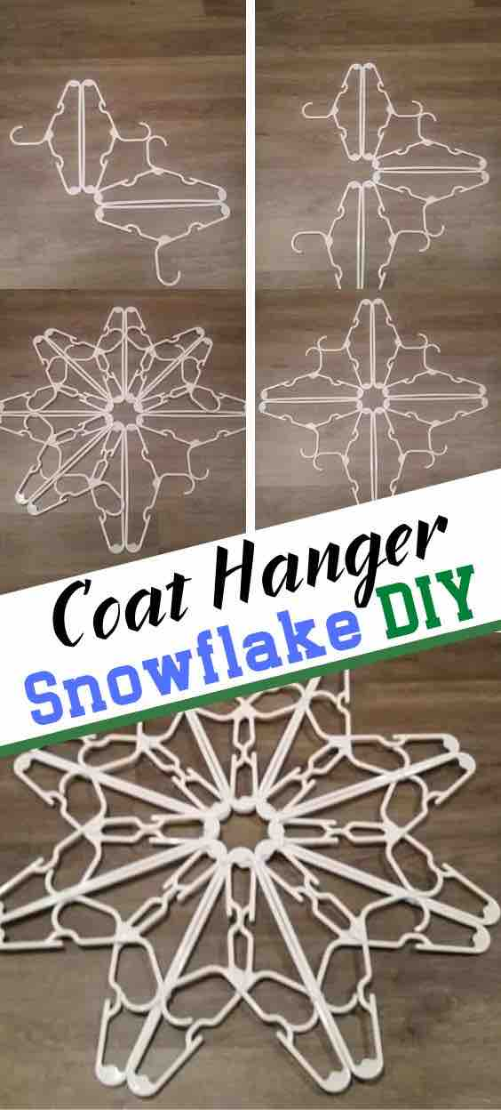 Coat hangar snowflake long