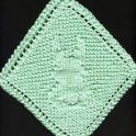 Knitting Pattern -  Easter Bunny Washcloth