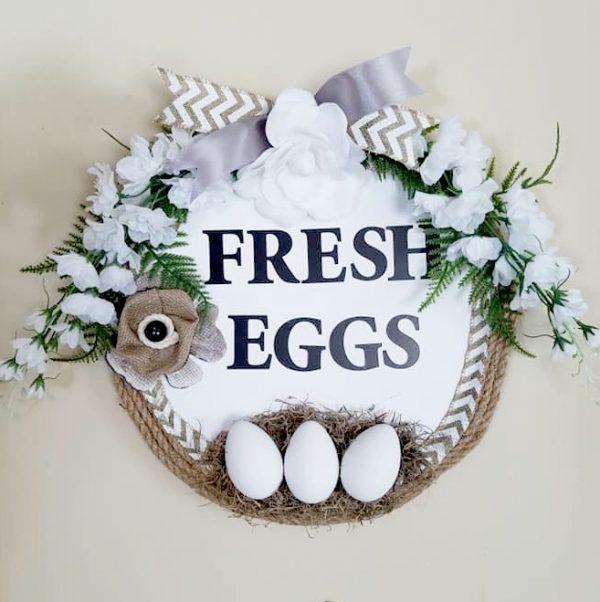 Diy Farmhouse Fresh Eggs Kitchen Wall Art Craftbits Com